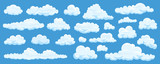 Set of cartoon clouds - 196530365