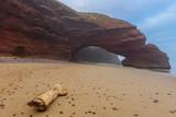 Sandstone arch at Legzira beach, Morocco