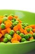 Orange Carrots and Green Peas