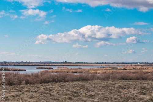 Foto op Canvas Blauw El cielo, la tierra y el agua