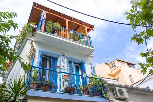 Fototapeta Street view on Skiathos island, Greece