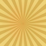Abstract yellow sun rays background. Vector. - 196553768