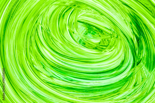 Abstract green watercolor painted background on white - 196556364