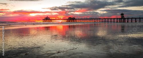 Fotobehang Strand Pier Sunset