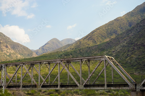 Aluminium Bruggen Bridge in the mountain
