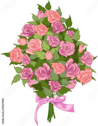 Aluminium Meisjeskamer Bouquet of Roses