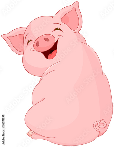 Plexiglas Meisjeskamer Pretty Pig