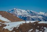 Mountain landscape, snowy peaks, Arkhyz, Caucasian mountains, Russia