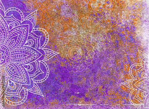 Grunge Mandala Background © Chris