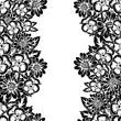 seamless monochrome pattern - 196580378