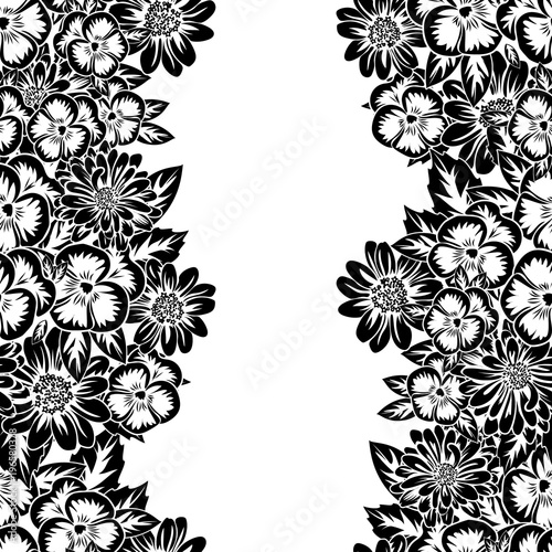 seamless monochrome pattern - 196580378