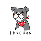 Vector_illustration_Character_design_love_dog