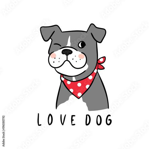 Vector_illustration_Character_design_love_dog - 196580792
