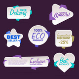 Sale tag vector isolated. Sale sticker with special advertisement offer. Tags collection. Super sale tag. Half price tag. - 196582382