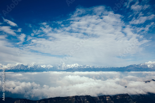 beautiful landscape in high altitude mountains
