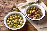 Different kind of olives - 196586362