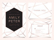 Wedding cards with minimal  texture and gold. Minimal design for cover, banner, invitation, card Branding and identity Vector illustration.