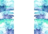 Watercolor blue background, blot, blob, splash of blue paint on white background. Watercolor blue, sky, spot, abstraction.