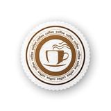 Coffee round paper emblem - 196603157