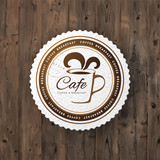 Cafe round sign - 196603192