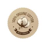Organic cotton emblem - 196603342