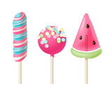 Set of 3 colorful lollipops - 196603387