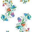 Colorful seamless watercolor floral pattern. - 196606784