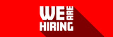 We are hiring - 196612752
