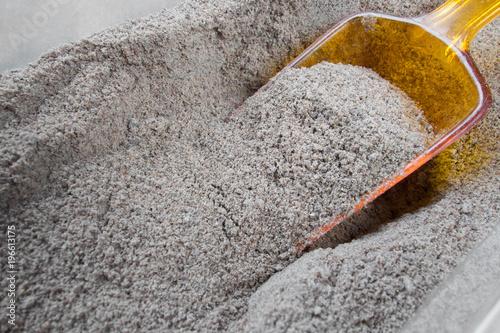 Poster Stenen Healthy flax flour