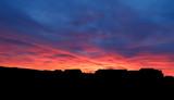 Dramatic sunset and sunrise sky