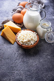 Assortment of various dairy products. - 196634370