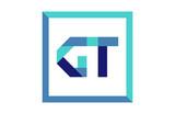 GT Square Ribbon Letter Logo