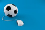 Soccer ball with computer mouse - 196636732