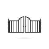 Gate icon vector - 196638946