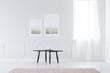 Simple bright living room interior