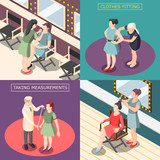 Fashion Industry Isometric Design Concept - 196651162