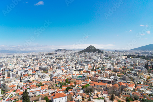 Fototapeta Cityscape of Athens with Lycabettus Hill