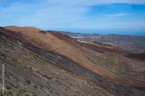 Foto op Canvas Cappuccino Droga do Wulkanu Teide, Boca Tauce