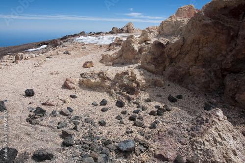Keuken foto achterwand Bleke violet Wulkan Teide, Teneryfa