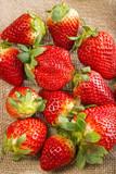 red ripe strawberries close up - 196665712