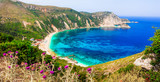 amazing beaches of Greece - beautiful Petani in Cefalonia island