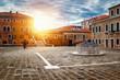 Old square, San Trovaso church in Venice, Italy