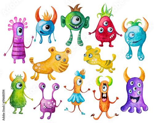 Naklejka Colorful monsters