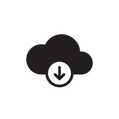 download cloud filled vector icon