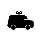 car toy filled vector icon