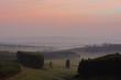 Misty sunrise over the KZN Midands
