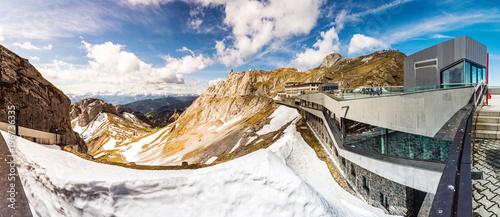 Pilatus, Gipfel über dem Vierwaldstättersee, Schweiz, Europa, Panorama