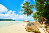 Anse a La Mouche - Paradise beach on tropical island Mahé in Sey
