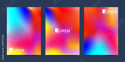 Modern vector template for brochure Leaflet flyer advert cover catalog magazine or annual report.. Abstract fluid 3d shapes vector trendy liquid colors backgrounds. Colored fluid graphic composition. © BAIVECTOR