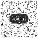 Decorative curls and swirls. Designers collection. Hand drawn illustration. Design elements. - 196752744